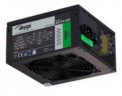 Zasilacz ATX 500W Akyga Pro AK-P4-500 Semi-Modular Fan12cm P8 5xSATA 2xPCI-E