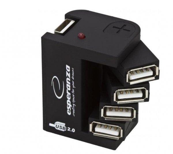 Hub USB Esperanza EA126 4xUSB 2.0 czarny