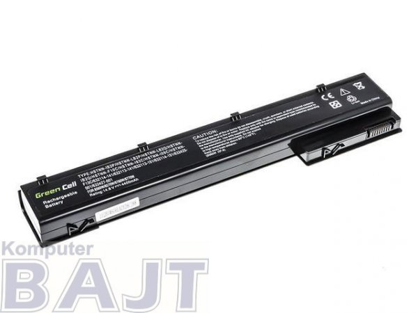 Bateria Green Cell do HP EliteBook 8560w 8570w 8760w 8770w 8 cell 14,8V