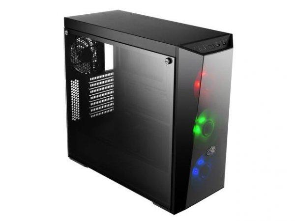 Obudowa Cooler Master MasterBox Lite 5 RGB ATX Midi Tower czarna USB 3.0 + kontroler