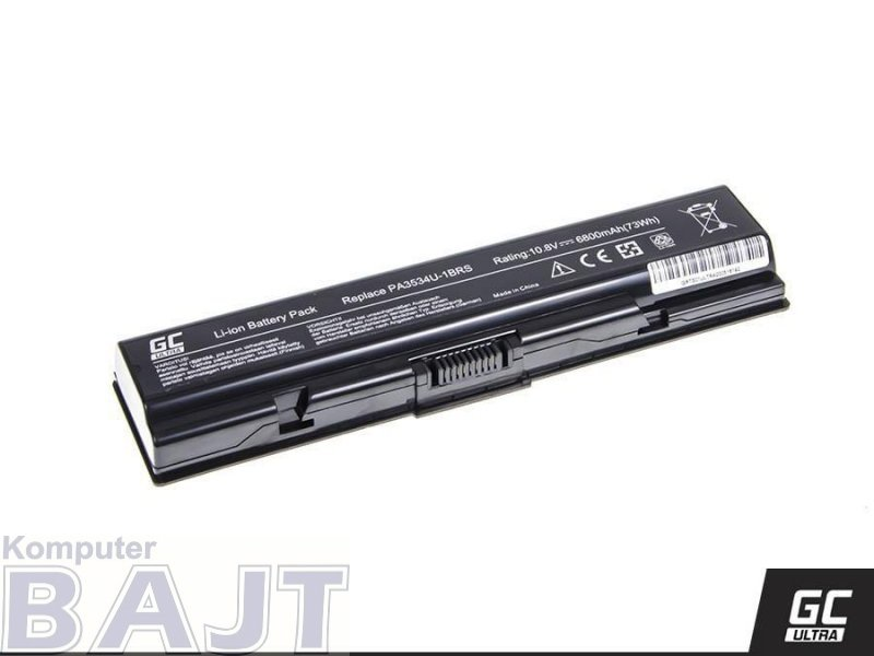 Bateria Green Cell ULTRA do Toshiba A200 A300 PA3534U-1BRS 6 cell 11,1V