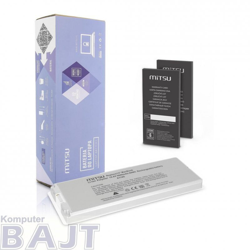 "Bateria Mitsu do notebooka Apple MacBook 13"" - white (10.8V-11.1V) (5600 mAh)"
