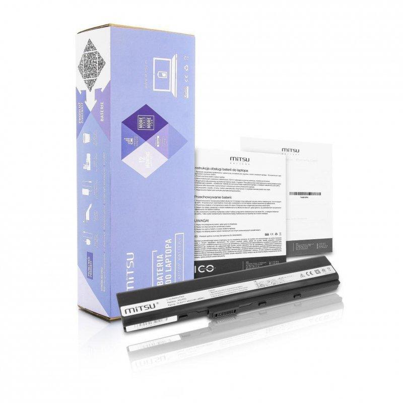 Bateria Mitsu do notebooka Asus A52, K52 (10.8V-11.1V) (4400 mAh)