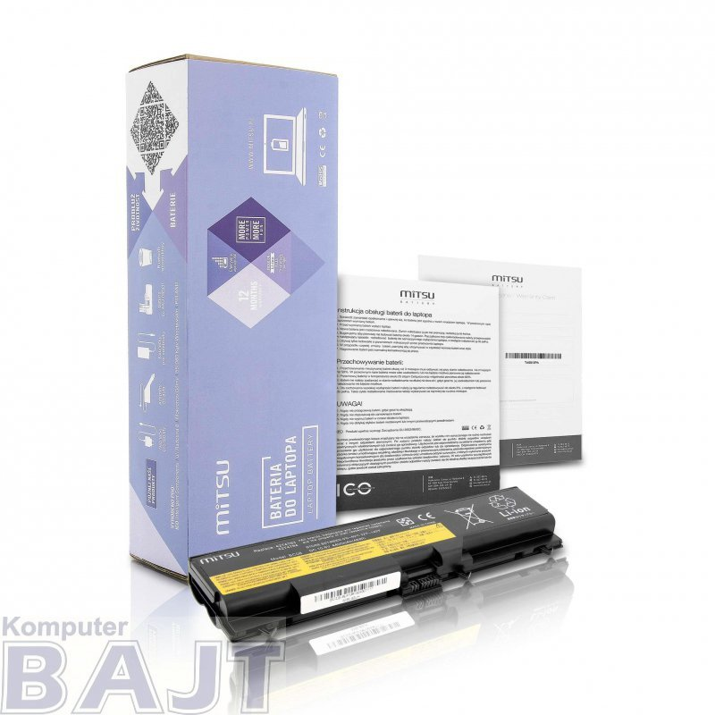 Bateria Mitsu do notebooka Lenovo E40, E50, SL410, SL510