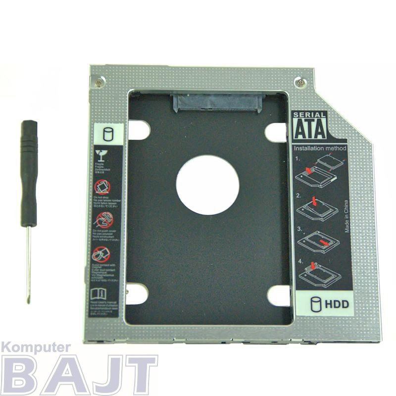 Kieszeń Qoltec na drugi dysk 2.5 HDD | 12.7 mm