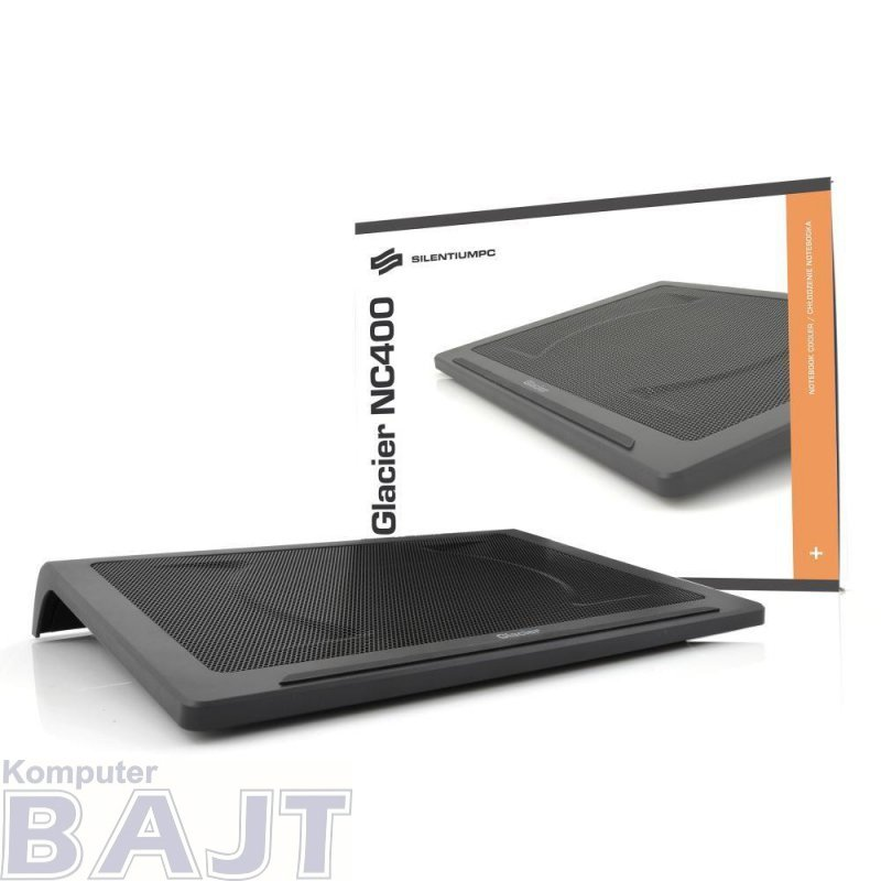 Podstawka chłodząca do notebooka SilentiumPC Glacier NC400 czarny