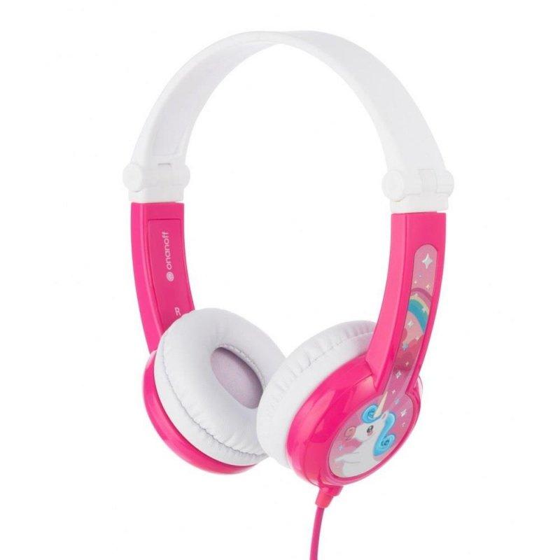 Słuchawki z mikrofonem BuddyPhones Connect Pink dla dzieci 85dB