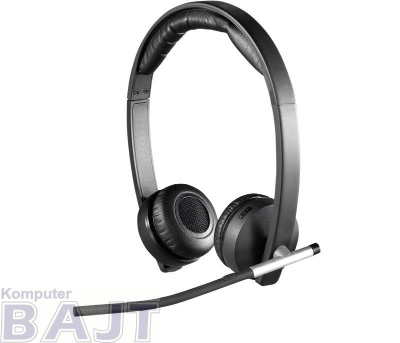 Słuchawki z mikrofonem Logitech H820e Mono bezprzewodowe czarne
