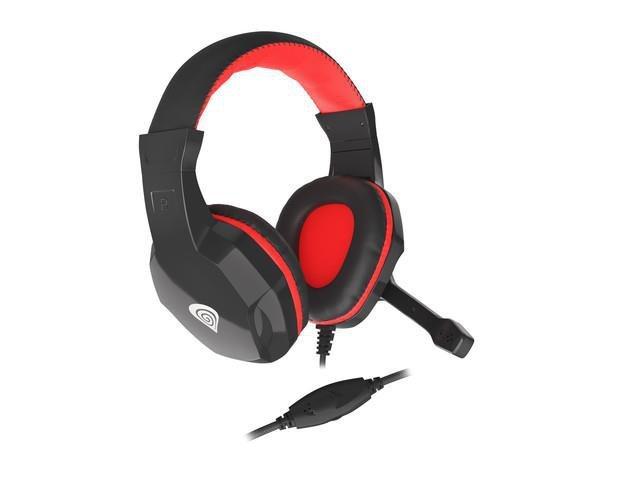 Słuchawki z mikrofonem Genesis Argon 110 Gaming czarno-czerwone