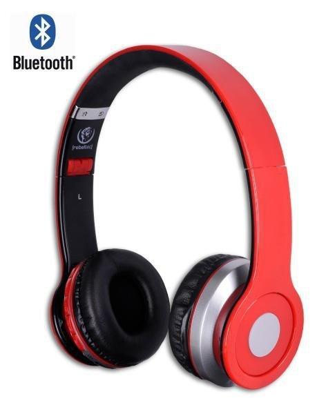 Słuchawki z mikrofonem Rebeltec CRYSTAL bezprzewodowe czarno-czerwone