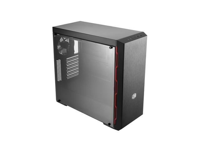 Obudowa Cooler Master MasterBox MB600L Midi Tower z oknem, czarno-czerwona