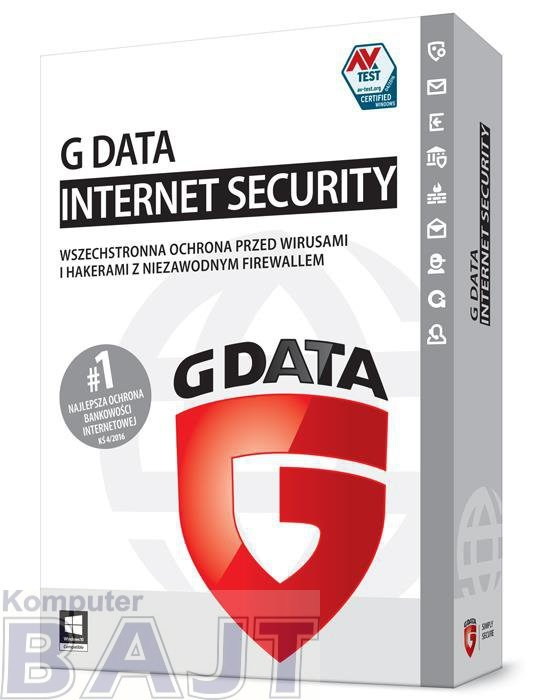 G DATA Internet Security 3PC 2LATA BOX