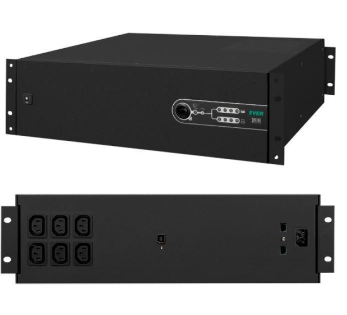 Zasilacz awaryjny UPS Ever Line-Interactive Sinline 3000VA AVR 6xIEC Sin USB LAN 3U
