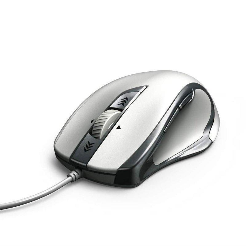 Mysz przewodowa Hama Torino optyczna biało-srebrna