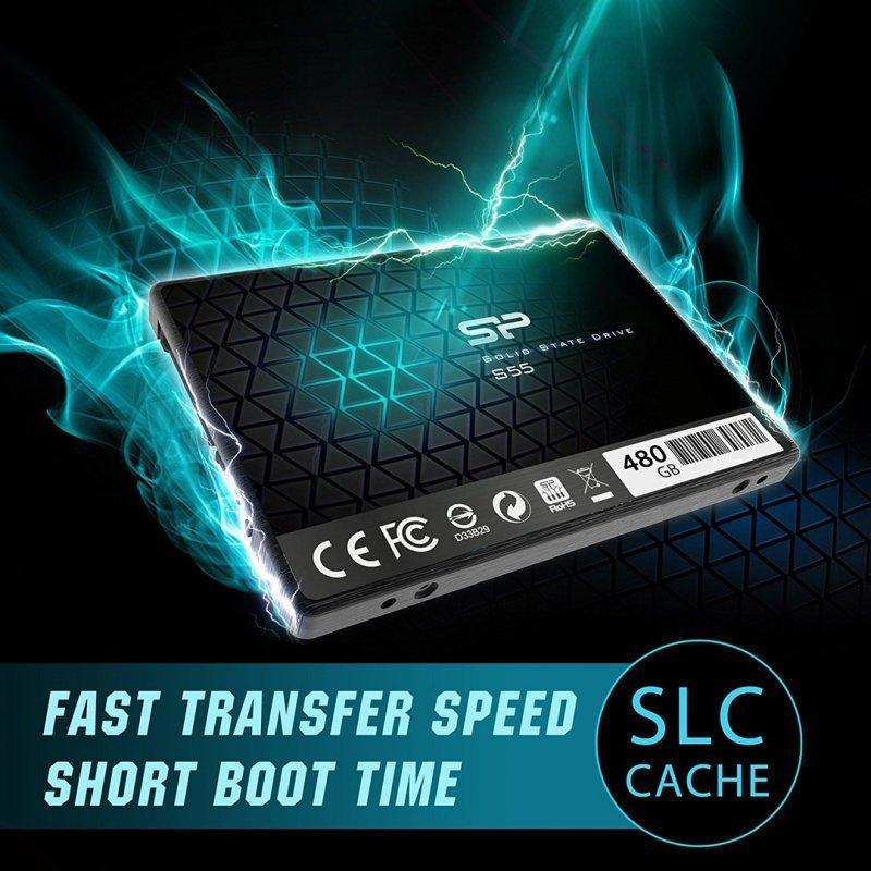 """Dysk SSD Silicon Power S55 SP480GBSS3S55S25 (480 GB ; 2.5""""; SATA III)"""