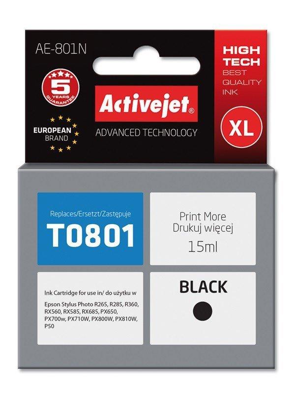 Tusz Activejet AE-801N (zamiennik Epson T0801; Supreme; 15 ml; czarny)