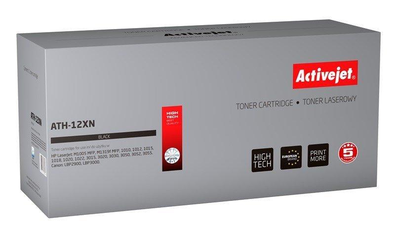 Toner Activejet ATH-12XN (zamiennik HP 12X Q2612X, Canon FX-10, Canon CRG-703; Premium; 2850 stron; czarny)