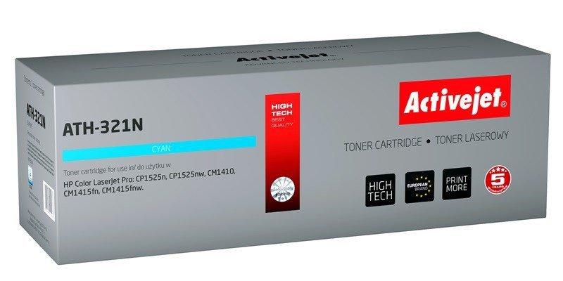Toner Activejet ATH-321N (zamiennik HP 128A CE321A; Supreme; 1300 stron; niebieski)