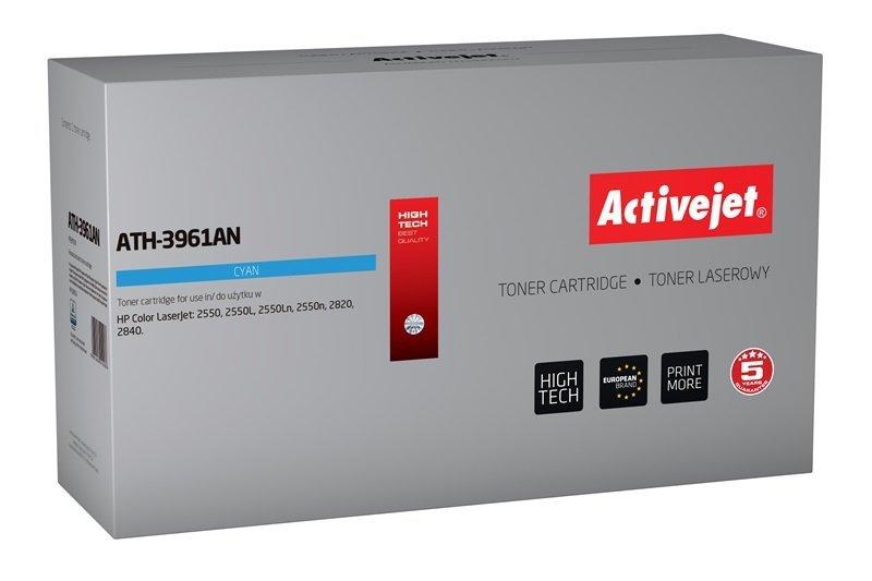 Toner Activejet ATH-3961AN (zamiennik HP 122A Q3961A, Canon CRG-701C; Premium; 4000 stron; niebieski)