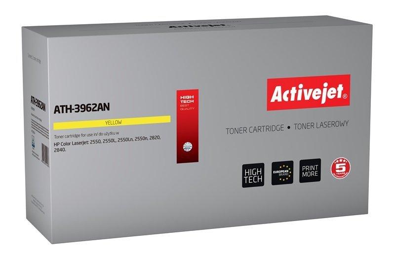 Toner Activejet ATH-3962AN (zamiennik HP 122A Q3962A, Canon CRG-701Y; Premium; 4000 stron; żółty)