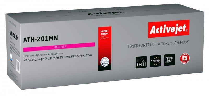 Toner Activejet ATH-201MN (zamiennik HP 201A CF403A; Supreme; 1400 stron; czerwony)