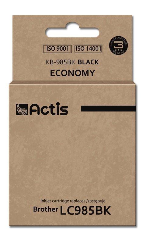 Tusz ACTIS KB-985Bk (zamiennik Brother LC985BK; Standard; 28 ml; czarny)