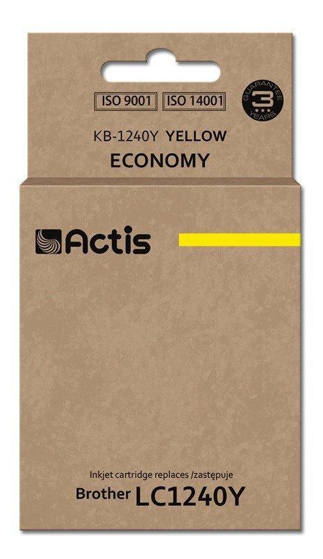 Tusz ACTIS KB-1240Y (zamiennik Brother LC1240Y/LC1220Y; Standard; 19 ml; żółty)