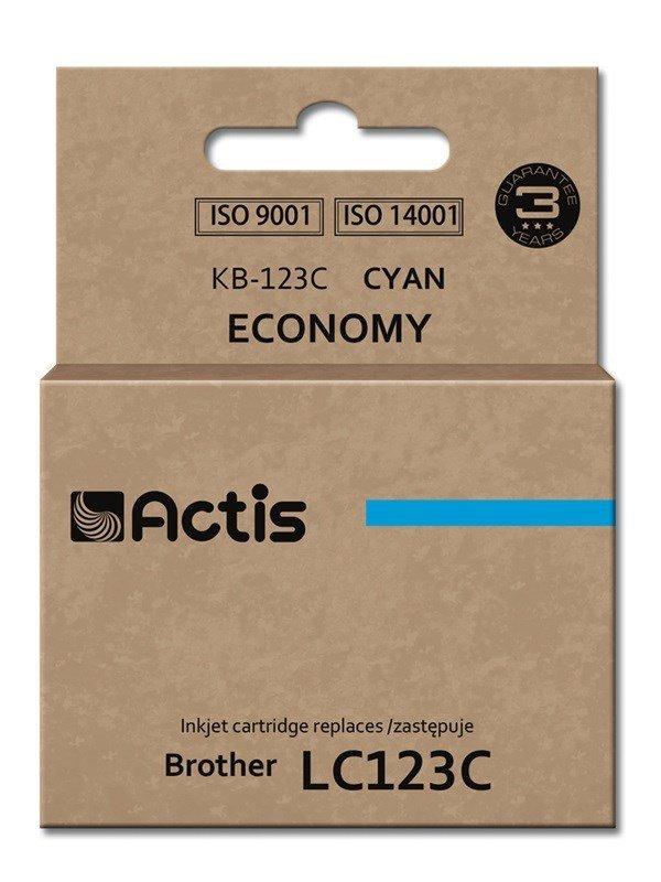 Tusz ACTIS KB-123C (zamiennik Brother LC123C/LC121C; Standard; 10 ml; niebieski)