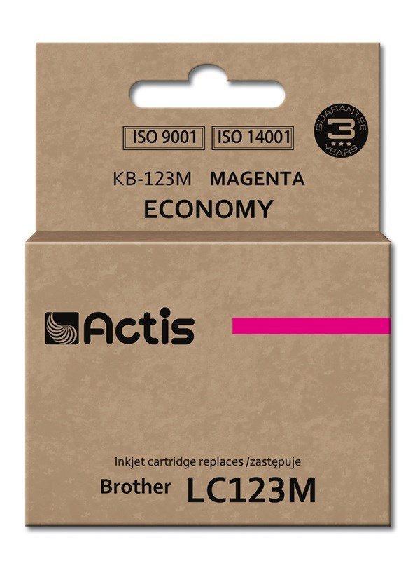 Tusz ACTIS KB-123M (zamiennik Brother LC123M/LC121M; Standard; 10 ml; czerwony)