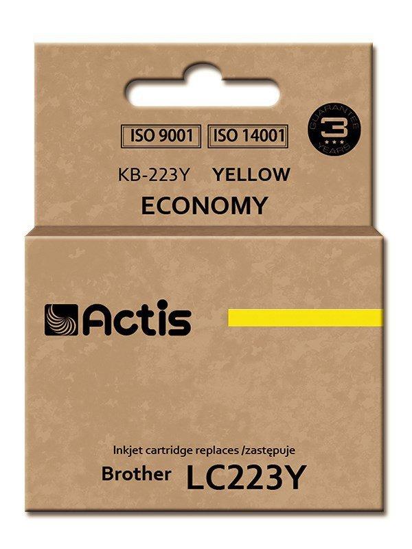 Tusz ACTIS KB-223Y (zamiennik Brother LC223Y; Standard; 10 ml; żółty)