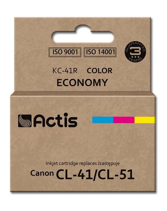 Tusz ACTIS KC-41R (zamiennik Canon CL-41/CL-51; Standard; 18 ml; kolor)