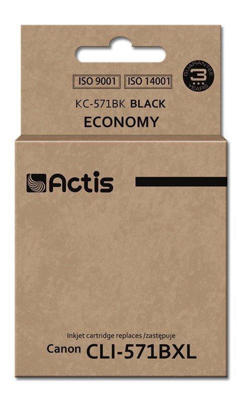Tusz ACTIS KC-571Bk (zamiennik Canon CLI-571BK; Standard; 12 ml; czarny)