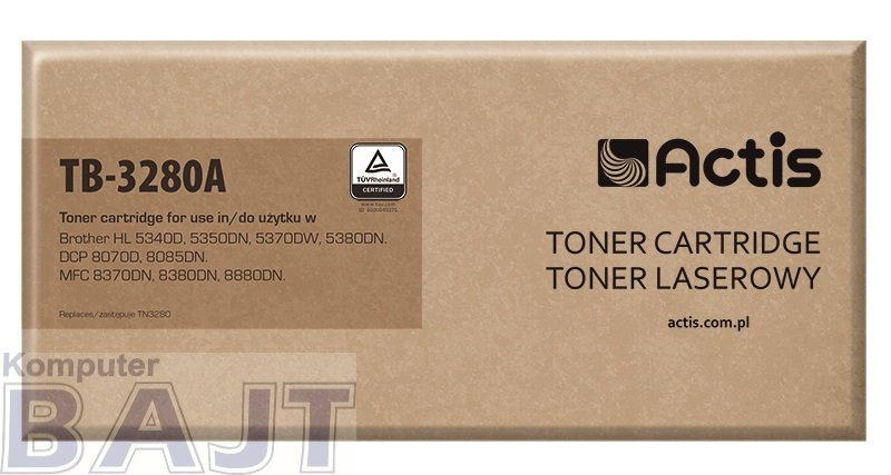 Toner ACTIS TB-3280A (zamiennik Brother TN-3280; Standard; 8000 stron; czarny)