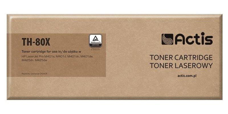 Toner ACTIS TH-80X (zamiennik HP 80X CF280X; Standard; 6900 stron; czarny)