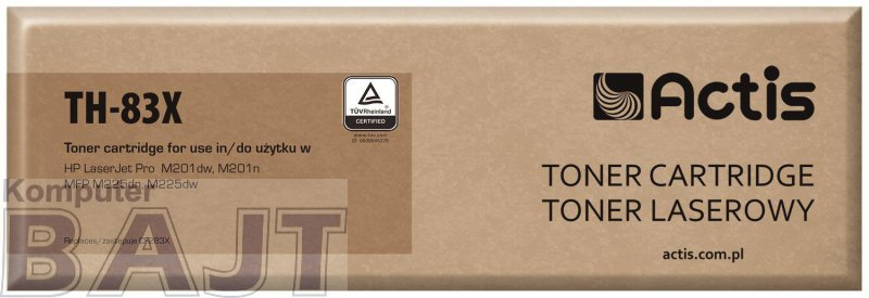 Toner ACTIS TH-83X (zamiennik HP 83X CF283X; Standard; 2200 stron; czarny)
