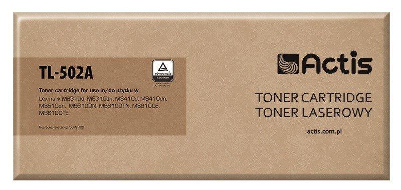 Toner ACTIS TL-502A (zamiennik Lexmark 50F2H00; Supreme; 5000 stron; czarny)