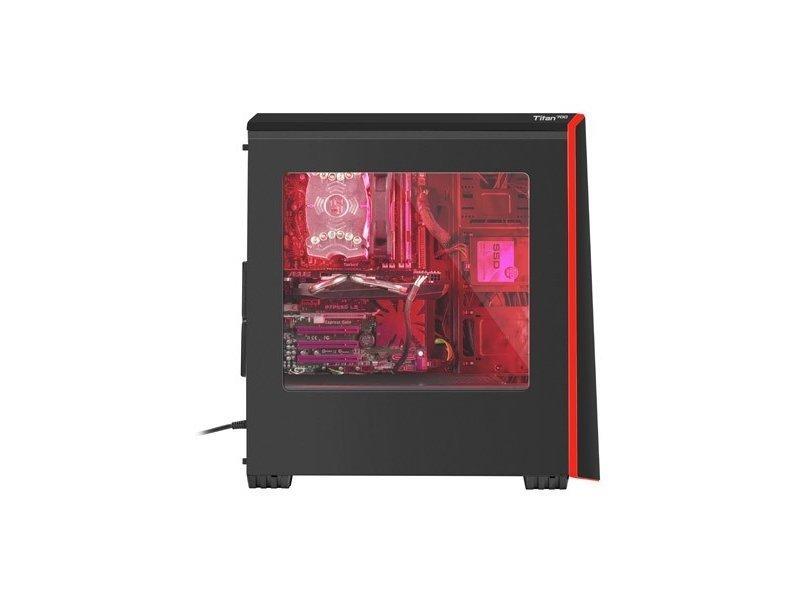 Obudowa NATEC Titan 700 NPC-1124 (ATX, Micro ATX, Mini ITX; kolor czarny)