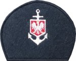 emblemat do czapki kotwica z godłem