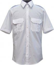 koszula mundurowa typu SLIM krótki rękaw biała