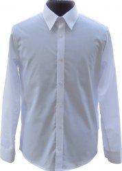 koszula typu SLIM długi rękaw biała