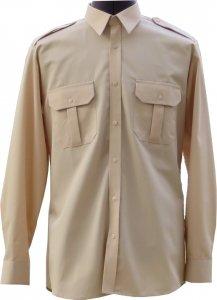koszulo-bluza mundurowa długi rękaw beżowa