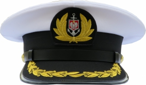 czapka kapitana Marynarka Handlowa