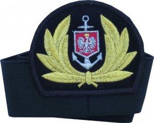 emblemat z otokiem do czapki Marynarka Handlowa haft maszynowy