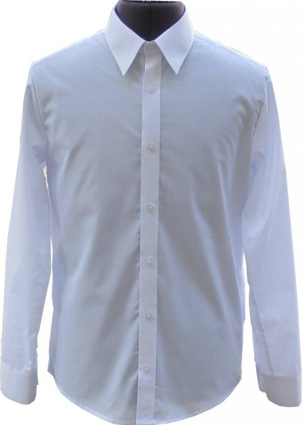 koszula typu SLIM z długim rękawem biała