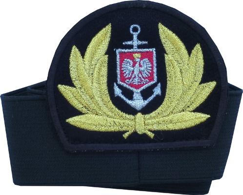 emblemat czapka kapitana i oficera floty handlowej