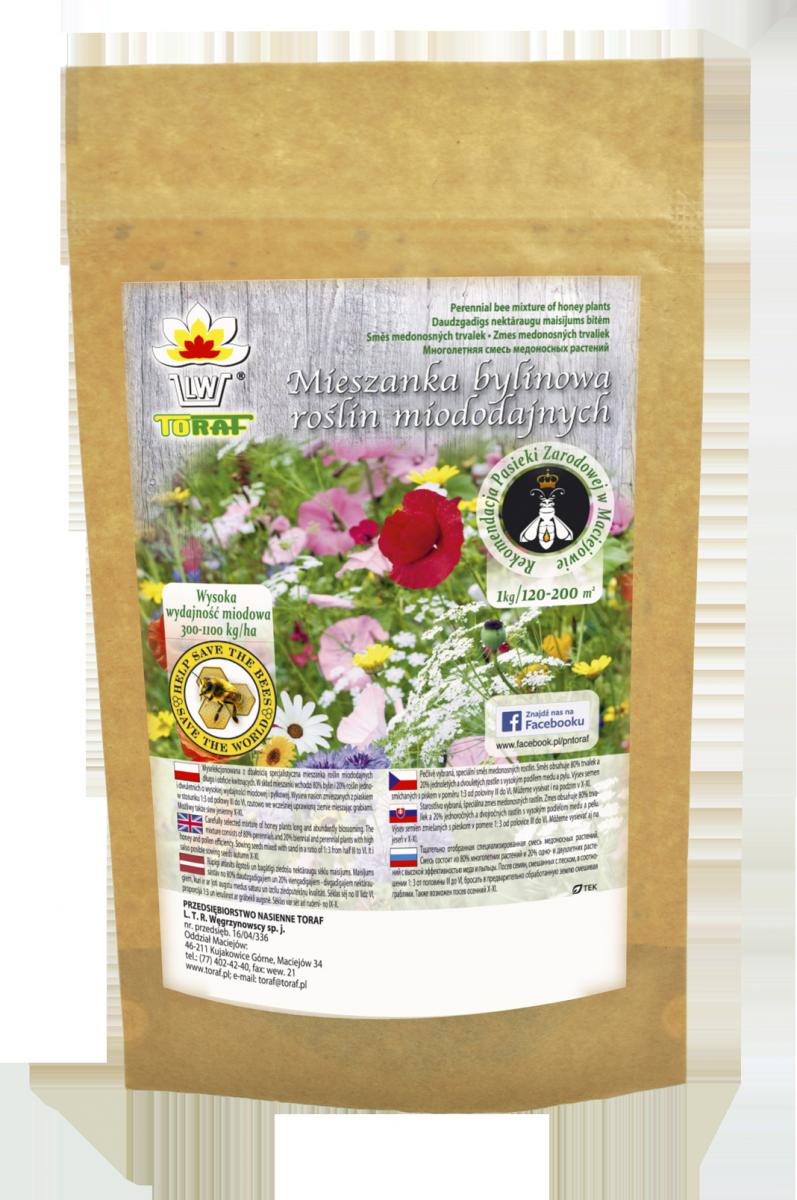 Mieszanka bylinowa 21 roślin miododajnych na tereny suche (100g)
