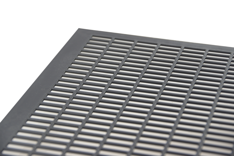 Krata odgrodowa gruba Wielkopolska czarna pozioma - 420x420mm