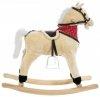 Koń na biegunach - duży 70 cm - beżowy