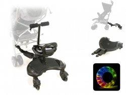 Dostawka Do Wózka z Siedzonkiem Mr. Buggy - koła LED