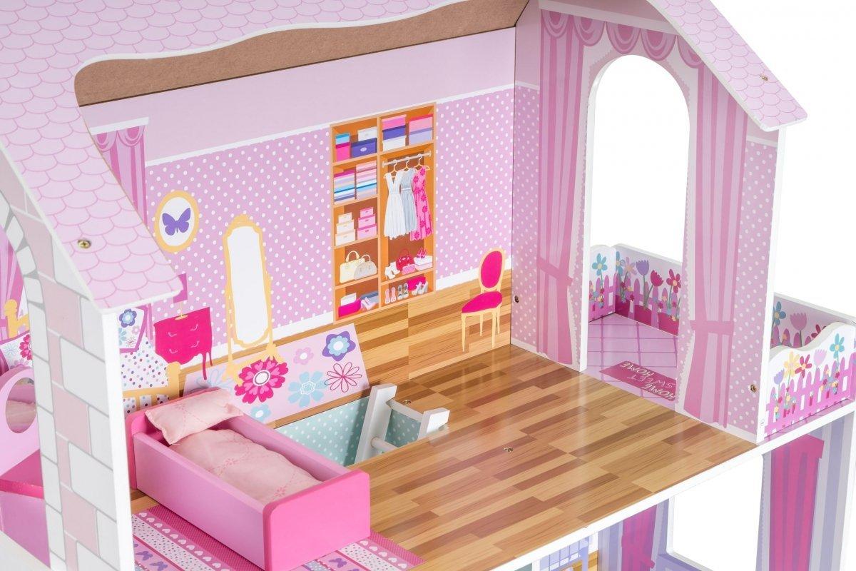 Duży drewniany domek dla lalek D10